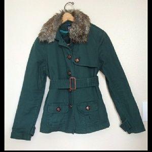 Gap utility jacket w/ fur collar